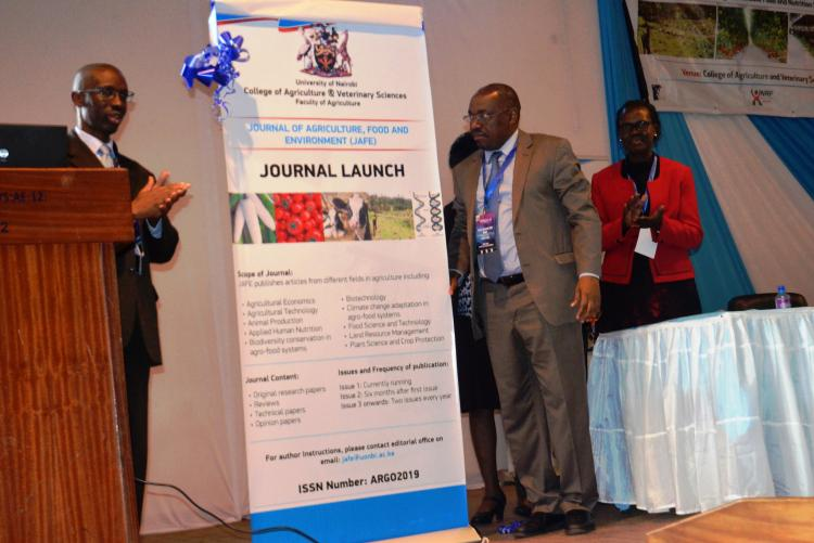 Launch of Faculty of agriculture Journal by Prof. Madara Ogot