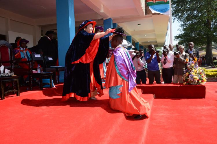 Conferrement of the degree of Doctor of Philosophy