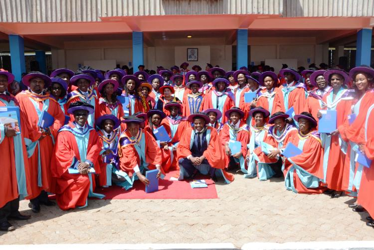 Group photo of all PHD graduands