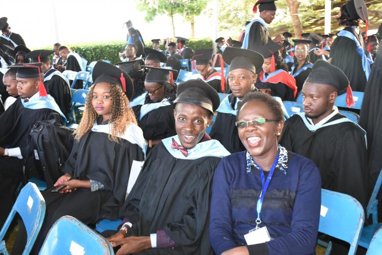 Graduands ready for the conferment of Degrees