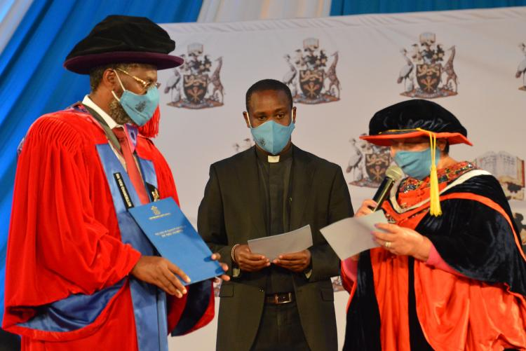 The University of Nairobi Charter, 2013 handed over to the Vice Chancellor