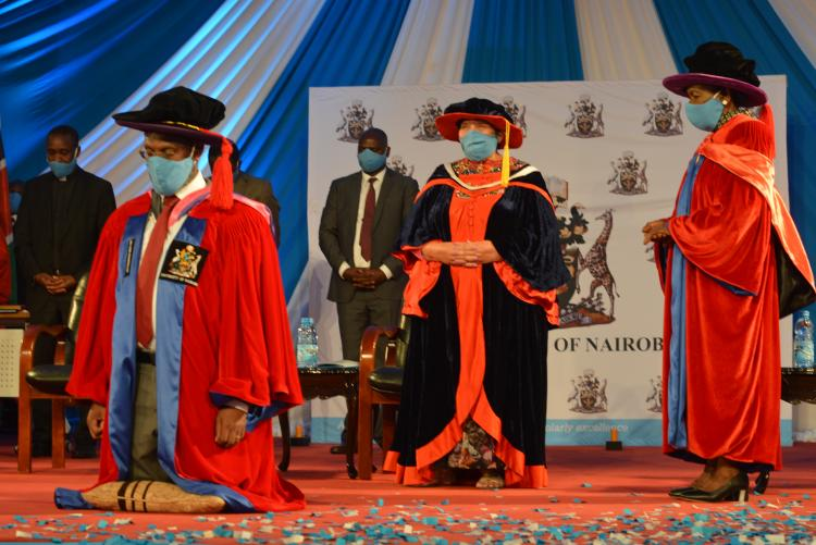 Prayer to the new Vice Chancellor